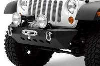 Бампер передний стальной с плитой для лебедки SMITTYBILT CLASSIC ROCK CRAWLER для JEEP WRANGLER JK (SB76743)