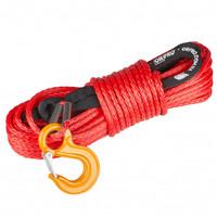 Синтетический трос ORPRO 25м 10мм (красный, с крюком) 12.5т (ORP-TK0053)