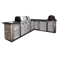 Угловая кухня BROIL KING с газовым и угольным грилем (без отделки и столешницы) (MOD1)