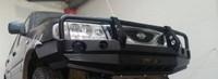 Передний бампер с монтажной плитой под лебедку и кенгурятником для Nissan Terrano II (2000-2006) (19552)