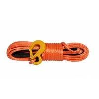 Синтетический трос POWERLINE 10 мм х 28 м, оранжевый с коушом и крюком, 10.5т (PLN10X28KH-O)