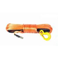 Синтетический трос POWERLINE 9 мм х 28 м, оранжевый с коушом и крюком, 8.5т (PLN9X28KH-O)