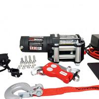 Лебедка электрическая для квадроцикла Kangaroowinch K3000 ATV 12V со стальным тросом 1.3т