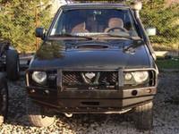 Передний бампер с плитой под лебедку и кенгурятником для Nissan TERRANO II (1996-2000)
