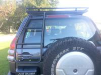Багажник на крышу для J120 (2002-2009) с сеткой (19821)