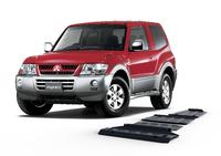 Комплект защит RIVAL 4 mm для Mitsubishi Pajero IV / Montero IV / Shogun IV  3,0; 3,2; 3,8; (3 + 5 doors) 2007- (23333.4012.1)