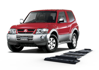 Защита радиатора RIVAL 4 mm для Mitsubishi Pajero IV / Montero IV / Shogun IV  3,0; 3,2; 3,8; (3 + 5 doors) 2007- (2333.4012.1)