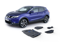 Комплект защит RIVAL 4 mm для Nissan Qashqai  4WD 2,0 only! 2014- (23333.4148.1)