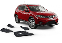 Комплект защит RIVAL 4 mm для Nissan X-Trail T32 4WD 2,0; 4WD 2,5 only! 2014- (23333.4152.1)