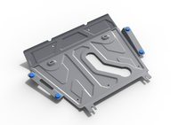 Защита двигателя и коробки передач RIVAL 4 mm для Toyota RAV4   all not for Hybrid 2006-2010; 2010-2015; 2015- (2333.5768.1)
