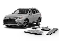 Комплект защит RIVAL 4 mm для Mitsubishi Outlander  2,0; 2,4; 3,0 (4WD ONLY!) 2012-2015; 2015- (23333.4028.1)