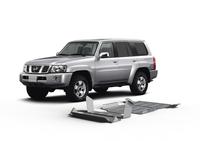 Комплект защит RIVAL 4 mm для Nissan Patrol Y61 3,0; 4,8 2004-2010 (23333.4115.1)