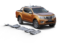 Комплект защит RIVAL без защиты бака 4 mm для Nissan Navara D40 2,5D; 3,0 2005-2015 (23333.4164.1)
