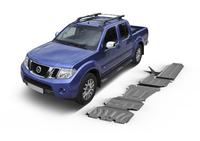 Комплект защит RIVAL с защитой бака 4 mm для Nissan Navara D40 2,5D; 3,0 2005-2015 (23333.4172.1)