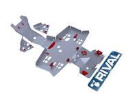 Защита днища с защитой рычагов RIVAL ATV TRX 420/500 FA/FE/FM/TE/TM/FPA Swingarm (FULL KIT) 2014- (2444.2104.2)