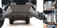 Защита днища с защитой рычагов RIVAL UTV Wolverine /-R Front plate + Footwell protection+Front/ Rear arm guards 2015- (2444.7137.1)