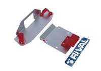 Монтажная плита RIVAL для установки лебёдки SSV Maverick (winch mounting for PRE RUNNER bumper) 2013- (2444.7215.1)
