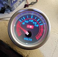 Вольтметр стрелочный Ket Gauge 7701-3 LED диодный Ø52мм (336)