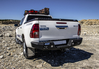 Задний бампер RIVAL для Toyota Hilux Vigo all 2011-2015; 2015- (2D.5702.1-NL)