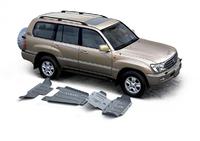 Комплект защит RIVAL 6 mm для Toyota Land Cruiser 100 J10 4,2D 2002-2007 (2333.5794.1.6)