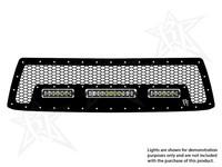 Решетка радиатора вариант № 2 для фары 10″SR-серии и 2-х фар 6″SR-серии Toyota Tundra 2010-2013 (40555)