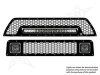 Комплект нижняя и верхняя решетки радиатора для фар Dually D2 и фары 20″SR-серии Toyota 4-Runner 2010-2013 (40556)