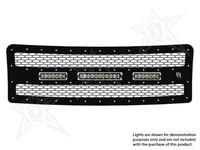 Декоративная решетка радиатора для 2- фар 6″ SR -серии и фары 10″ SR-серии Ford F-150 2010-2012 (40558)