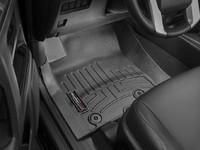 Коврики резиновые WeatherTech для Toyota Land Cruiser Prado 150 2014+ передние черные (444931)