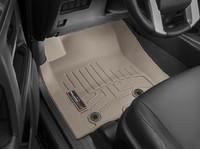 Коврики резиновые WeatherTech для Toyota Land Cruiser Prado 150 2014+ передние бежевые (454931)