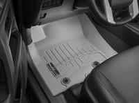 Коврики резиновые WeatherTech для Toyota Land Cruiser Prado 150 2014+ передние серые (464931)
