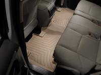 Коврики резиновые WeatherTech для Toyota Land Cruiser Prado 150 2014+ задние бежевые (452862)