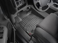 Коврики резиновые WeatherTech для Toyota Tundra/Sequoia 2012+ передние черные (444081)