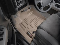 Коврики резиновые WeatherTech для Toyota Tundra/Sequoia 2012+ передние бежевые (454081)