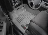 Коврики резиновые WeatherTech для Toyota Tundra/Sequoia 2012+ передние серые (464081)