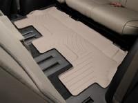 Коврики резиновые WeatherTech для Toyota Sequoia 2012+ третий ряд бежевые (450936)