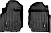 Коврики резиновые WeatherTech для Ford Ranger 2012+ передние черные (445131)