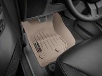Коврики резиновые WeatherTech для Jeep Wrangler JK 2014+ передние бежевые (455731)