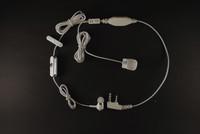 Гарнитура N 44 для радиостанции Air Soft 2V-agent с вакуумным наушником + кнопка передачи на палец в рукав