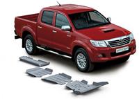 Комплект защит RIVAL 4 mm для Toyota Hilux Vigo 2,5TD; 3,0TD; 2,7  2007-2015 (23333.5793.1)