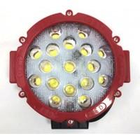Фара диодная 11 51W дальний свет красная (1 шт.) (3415)