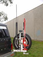 Выносной крепеж запаски KAYMAR правый к заднему бамперу TOYOTA LC76 (K8105R)