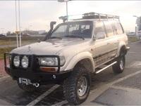 Передний бампер для Toyota HDJ80 (1989-1997) с монтажной плитой под лебедку без кенгурятника (19729)