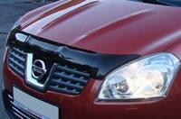 Дефлектор капота (тонированный с лого) EGR NISSAN QASHQAI 2007- # 027181L