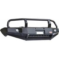 Бампер РИФ передний Mitsubishi L200 New/Pajero Sport с доп. фарами и кенгурином (RIFTRT-10350)