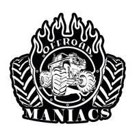 "Наклейка-логотип на машину ""offroadmaniacs"" 10 см"