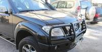 Передний бампер для Nissan Pathfinder с монтажной плитой под лебедку и кенгурятником