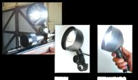 Фара искатель 110mm 30W с проводом 2m и клемами для подключения к переносному аккумулятору (PRED)