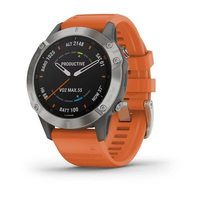 Спортивные часы Garmin Fenix 6 Titanium with Ember Orange Band (010-02158-14)