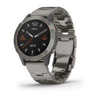 Спортивные часы Garmin Fenix 6 Titanium with Vented Titanium Bracelet (010-02158-23)
