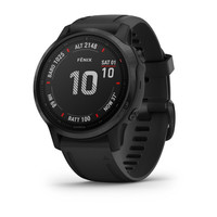Спортивные часы Garmin Fenix 6S Black with Black Band (010-02157-21)
